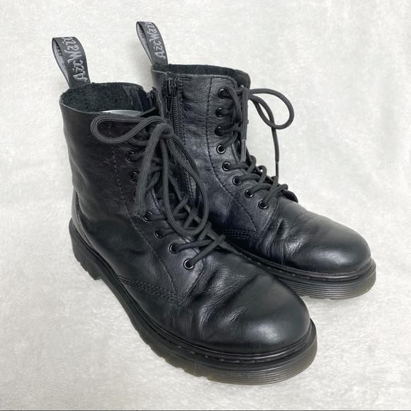 Doc Martens pascal mono black leather boots size 5